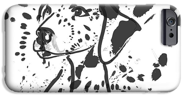 Dogs Digital iPhone Cases - Dog Spot iPhone Case by Go Van Kampen