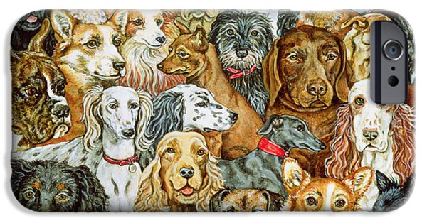 Dog iPhone Cases - Dog Spread iPhone Case by Ditz