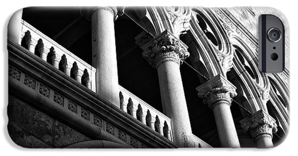 Venetian Balcony iPhone Cases - Doges Light iPhone Case by John Rizzuto