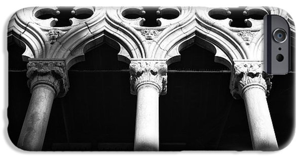 Venetian Balcony iPhone Cases - Doges Shadows iPhone Case by John Rizzuto