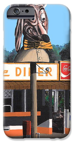 Doggie Diner 1986 iPhone Case by Wingsdomain Art and Photography