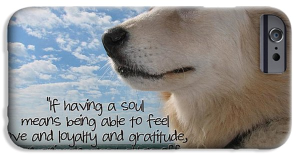 Canine Greeting Cards Digital Art iPhone Cases - Doggie Soul iPhone Case by Peggy J Hughes