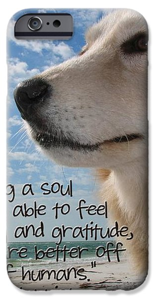 Doggie Soul iPhone Case by Peggy J Hughes