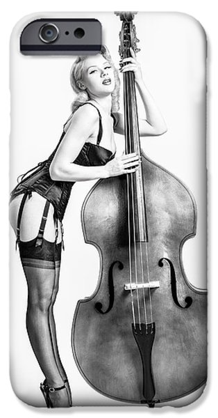 Upright Bass iPhone Cases - Doghouse with Mosh - String Bass Baby   iPhone Case by Gary Heller