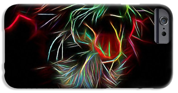 House Pet Digital Art iPhone Cases - Dogs also like the holidays iPhone Case by Yury Malkov