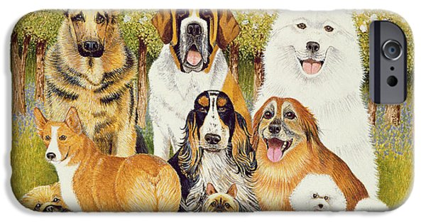 Alsatian iPhone Cases - Dogs In May iPhone Case by Pat Scott