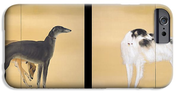 Concept Paintings iPhone Cases - Dogs of Europe iPhone Case by Kansetsu