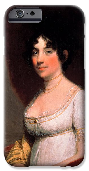 Best Sellers -  - First Lady iPhone Cases - Dolley Payne Madison iPhone Case by Gilbert Stuart