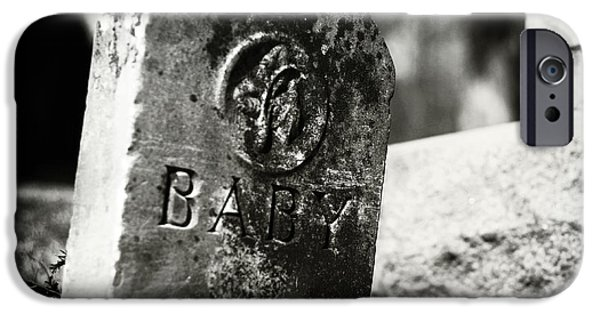 Headstones iPhone Cases - Dolls of Joy and Grief iPhone Case by Rebecca Sherman