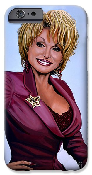 Little iPhone Cases - Dolly Parton iPhone Case by Paul  Meijering