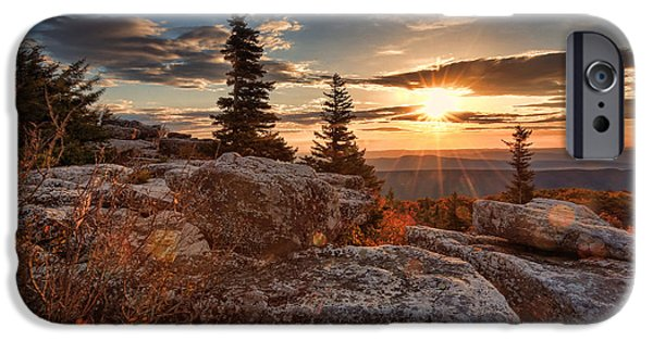 Sod iPhone Cases - Dolly Sods morning iPhone Case by Jaki Miller