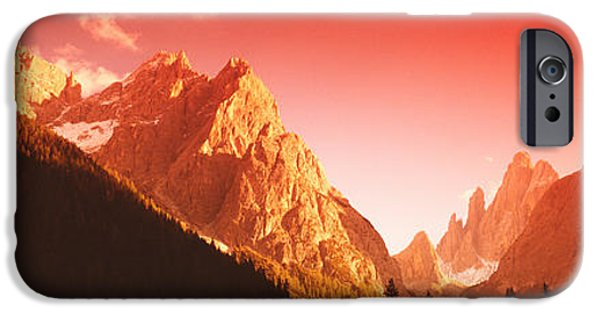 Snowy Day iPhone Cases - Dolomites, Italy iPhone Case by Panoramic Images