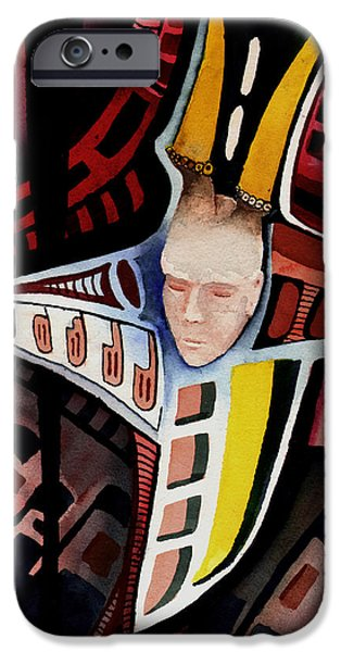 Sadness Paintings iPhone Cases - Dolor-2013 iPhone Case by Sam Sidders
