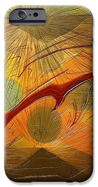 Dolphin Abstract - 2 iPhone Case by Kae Cheatham