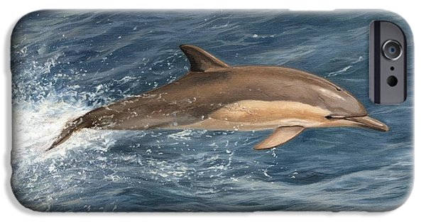 Porpoise iPhone Cases - Dolphin iPhone Case by David Stribbling