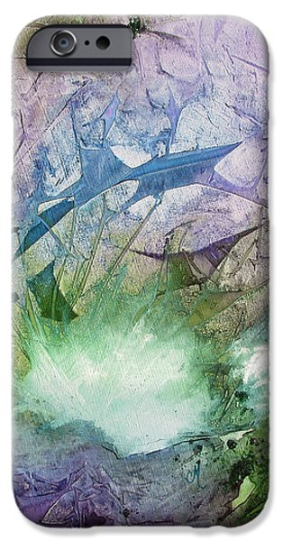 Blue Abstracts iPhone Cases - Dolphin Dream - Panel iPhone Case by Chris Morningforest