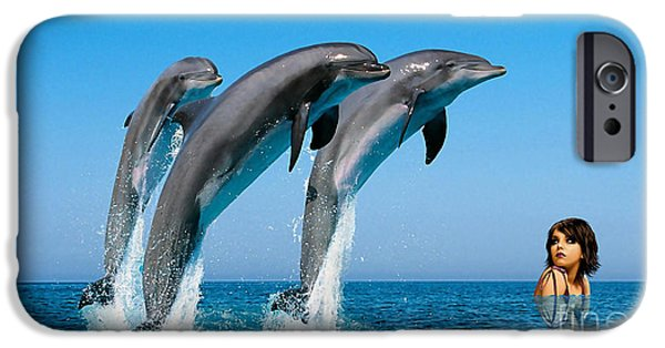 Dolphin iPhone Cases - Dolphin Dreams iPhone Case by Marvin Blaine