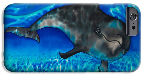 Home Tapestries - Textiles iPhone Cases - Dolphin in Saint Lucia iPhone Case by Daniel Jean-Baptiste