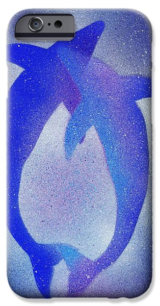 Dolphin iPhone Cases - Dolphins 3 iPhone Case by Hakon Soreide