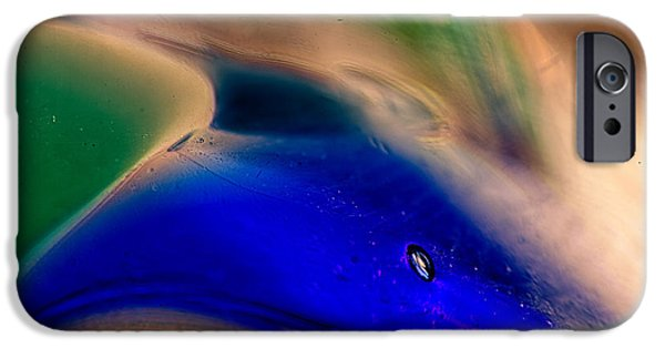 Fine Abstract Glass iPhone Cases - Dolpins iPhone Case by Omaste Witkowski