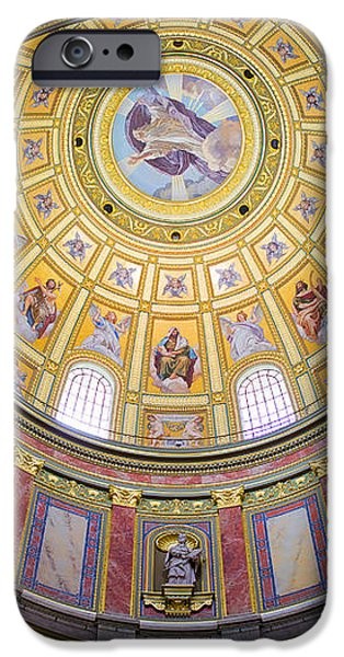 Dome Interior of the St Stephen Basilica in Budapest iPhone Case by Artur Bogacki