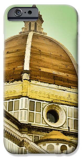 Florence Cathedral iPhone Cases - Dome of Florence iPhone Case by Jon Berghoff