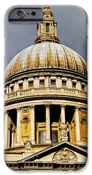 Saint Christopher iPhone Cases - Dome of St. Pauls Cathedral iPhone Case by Christi Kraft