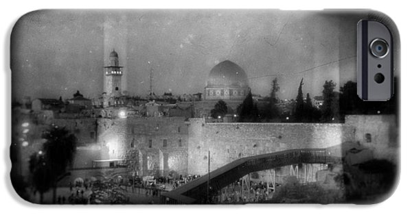 Sacrifice Mixed Media iPhone Cases - Dome of the Rock In Israel - Abstract Version iPhone Case by Michael Braham
