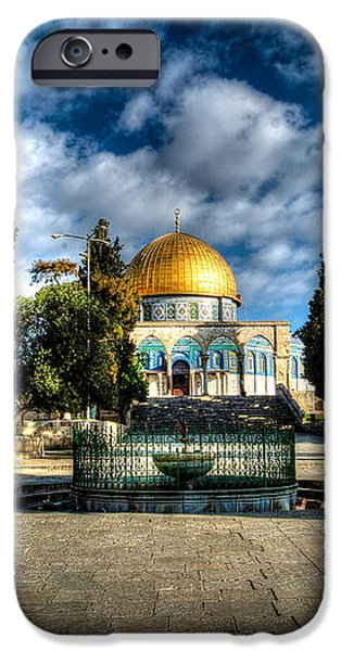 Dome of the Rock HDR iPhone Case by David Morefield