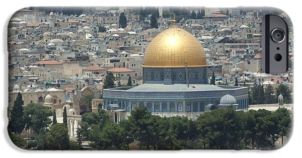 From The Dome iPhone Cases - Dome of the Rock in Jerusalem iPhone Case by Rebecca Lesses