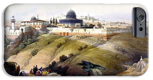 The Dome iPhone Cases - Dome of the Rock iPhone Case by Munir Alawi