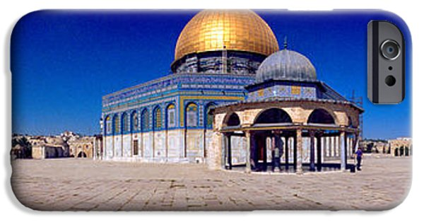 Old City iPhone Cases - Dome Of The Rock, Temple Mount iPhone Case by Panoramic Images