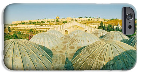 Israeli iPhone Cases - Domes At The Church Of All Nations iPhone Case by Panoramic Images
