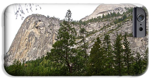 From The Dome iPhone Cases - Domes from the Trail to Mirror Lake in Yosemite Valley- 2013 iPhone Case by Ruth Hager