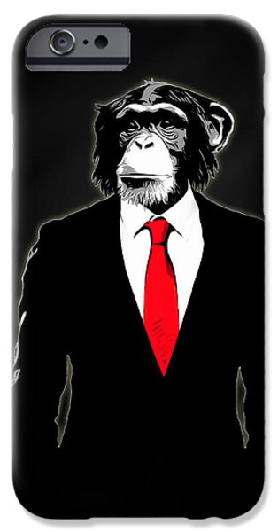 Monkey iPhone Cases - Domesticated Monkey iPhone Case by Nicklas Gustafsson