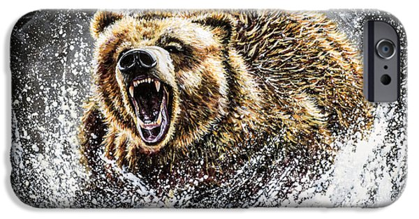 Power Animal iPhone Cases - Dominance iPhone Case by Teshia Art