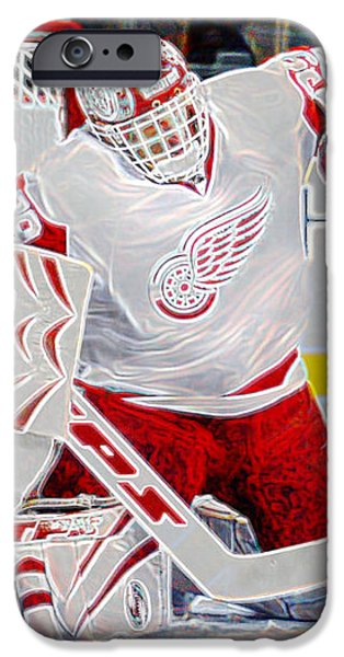 Dominic Hasek iPhone Case by Don Olea