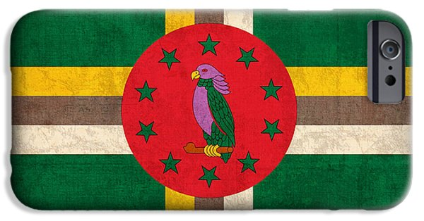 Recently Sold -  - Nation iPhone Cases - Dominica Flag Vintage Distressed Finish iPhone Case by Design Turnpike