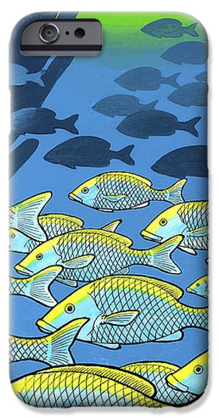 Pen And Ink iPhone Cases - Dominion Over Fish Of The Sea iPhone Case by Guy Radcliffe