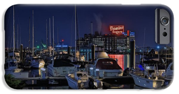 Sign iPhone Cases - Domino Sugars Sign iPhone Case by Susan Candelario
