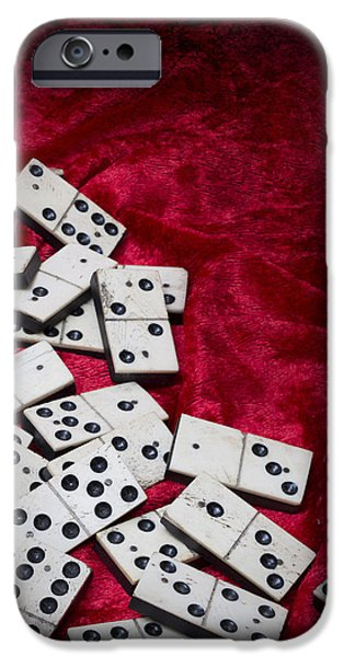 Chance iPhone Cases - Dominoes iPhone Case by Amanda And Christopher Elwell