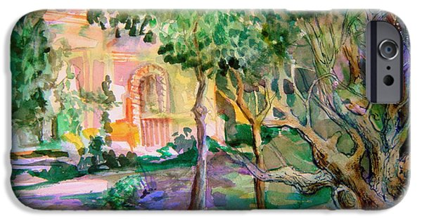 Pathway Mixed Media iPhone Cases - Domus Pacis iPhone Case by Mindy Newman