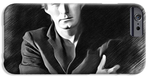 Digital Designs iPhone Cases - Don Henley Sketch iPhone Case by Scott Wallace
