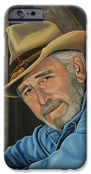 Celebrities Portrait iPhone Cases - Don Williams iPhone Case by Paul  Meijering