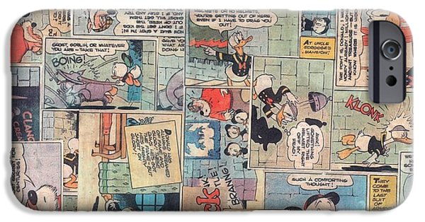 Scrooge iPhone Cases - Donald Duck Comics iPhone Case by Judy Tolley