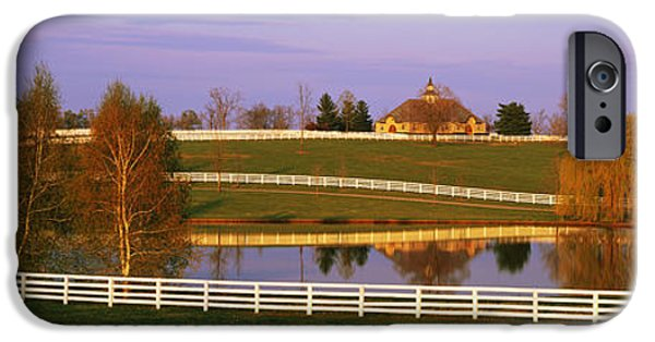 Rural iPhone Cases - Donamire Farm Ky iPhone Case by Panoramic Images