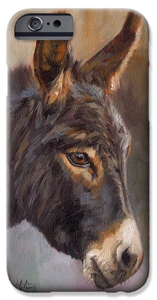 Donkey iPhone Cases - Donkey iPhone Case by David Stribbling