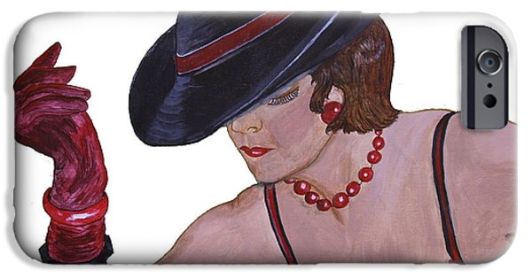 First Lady iPhone Cases - Donnas Hat iPhone Case by Donna Coupe