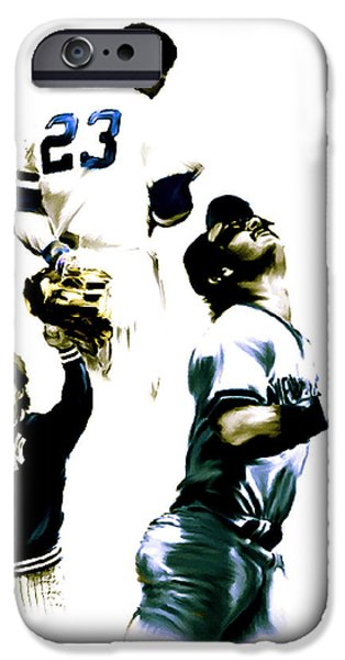 Donnie Baseball  Don Mattingly iPhone Case by Iconic Images Art Gallery David Pucciarelli