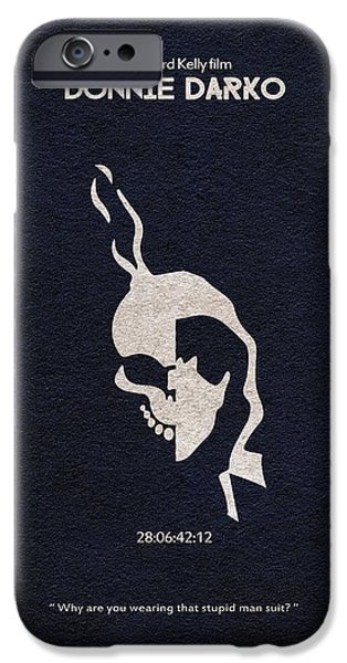 Nerd iPhone Cases - Donnie Darko iPhone Case by Ayse Deniz